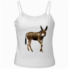 Donkey 2 White Spaghetti Top