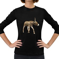 Donkey 3 Womens' Long Sleeve T-shirt (Dark Colored)