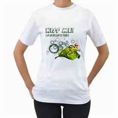 Kiss me!  Womens  T-shirt (White)