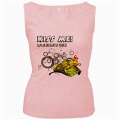 Kiss me!  Womens  Tank Top (Pink)