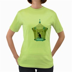 Cat 1 Womens  T-shirt (Green)