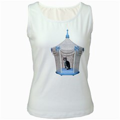 Cat 1 Womens  Tank Top (White)