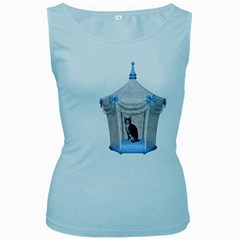 Cat 1 Womens  Tank Top (Baby Blue)