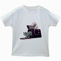 Cat 2 Kids' T-shirt (White)