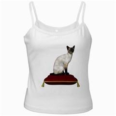 Cat 3 White Spaghetti Top
