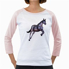 Metal Horse 1 Womens  Long Sleeve Raglan T-shirt (White)