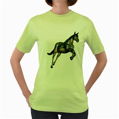 Metal Horse 1 Womens  T-shirt (Green)