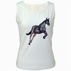 Metal Horse 1 Womens  Tank Top (White)