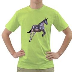 Metal Horse 1 Mens  T-shirt (Green)