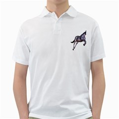 Metal Horse 1 Mens  Polo Shirt (white)