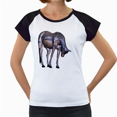 Metal Horse 2 Women s Cap Sleeve T-Shirt (White)