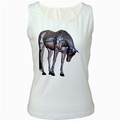 Metal Horse 2 Womens  Tank Top (White)