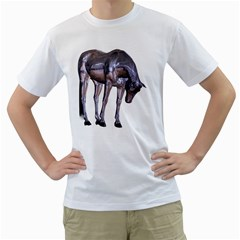Metal Horse 2 Mens  T-shirt (White)