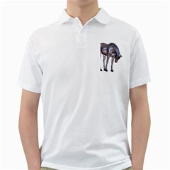Metal Horse 2 Mens  Polo Shirt (white)