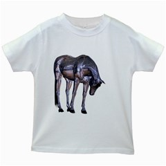 Metal Horse 2 Kids' T Shirt (white)
