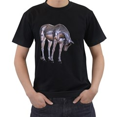 Metal Horse 2 Mens' Two Sided T-shirt (Black)