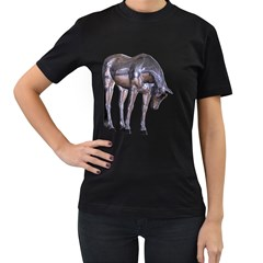 Metal Horse 2 Womens' Two Sided T Shirt (black)