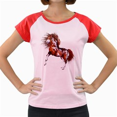 Native Horse Women s Cap Sleeve T-Shirt (Colored)