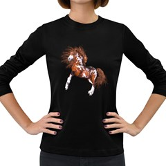 Native Horse Womens' Long Sleeve T Shirt (dark Colored)