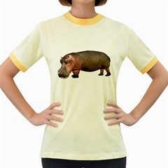 Hippo 1 Womens  Ringer T-shirt (Colored)