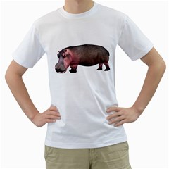 Hippo 1 Mens  T-shirt (White)