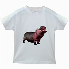Hippo 2 Kids' T-shirt (White)