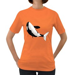 Orca Whale 2 Womens' T-shirt (Colored)