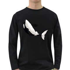 Orca Whale 2 Mens' Long Sleeve T-shirt (Dark Colored)
