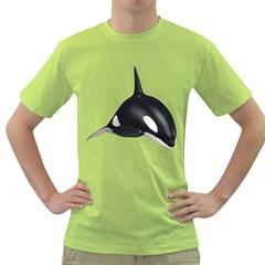 Orca Whale 3 Mens  T Shirt (green)