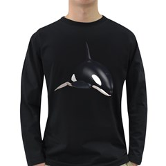 Orca Whale 3 Mens' Long Sleeve T Shirt (dark Colored)