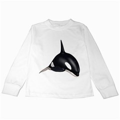 Orca Whale 3 Kids Long Sleeve T Shirt
