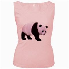 Panda Bear 2 Womens  Tank Top (Pink)