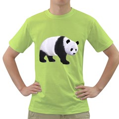 Panda Bear 2 Mens  T-shirt (Green)