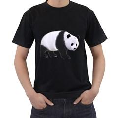Panda Bear 2 Mens' Two Sided T Shirt (black)