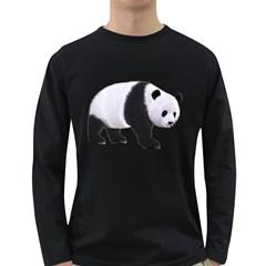 Panda Bear 2 Mens' Long Sleeve T Shirt (dark Colored)