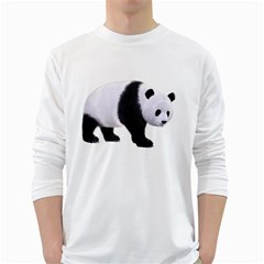 Panda Bear 2 Mens' Long Sleeve T-shirt (White)