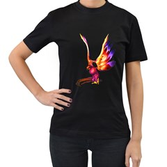 Phoenix 1 Womens' Two Sided T-shirt (Black)