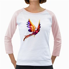 Phoenix 2 Womens  Long Sleeve Raglan T Shirt (white)