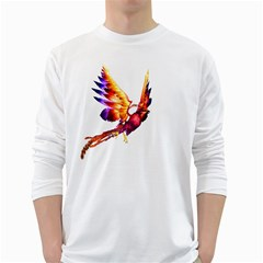 Phoenix 2 Mens' Long Sleeve T-shirt (White)