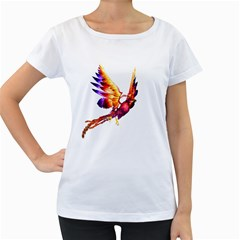 Phoenix 2 Womens' Maternity T-shirt (White)