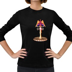 Phoenix 3 Womens' Long Sleeve T Shirt (dark Colored)