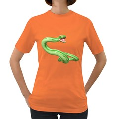 Green Snake Womens' T-shirt (Colored)