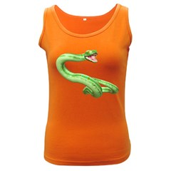 Green Snake Womens  Tank Top (Dark Colored)