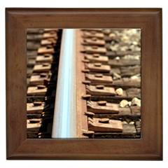 Train Track Framed Ceramic Tile