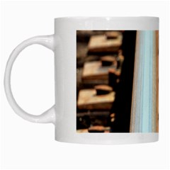 Train Track White Coffee Mug
