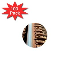Train Track 1  Mini Button Magnet (100 Pack)