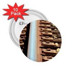 Train Track 2 25  Button (10 Pack)