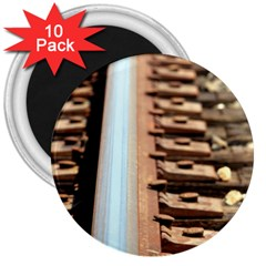 Train Track 3  Button Magnet (10 Pack)