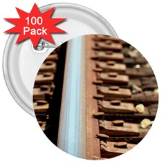 Train Track 3  Button (100 pack)