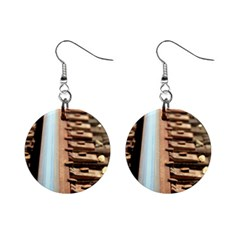 Train Track Mini Button Earrings